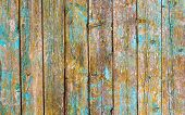 Obsolete Vintage Rustic Shabby Wood Background. Dirty Old Wooden Peeling Paint Wall Texture Close Up poster