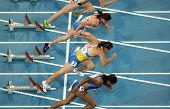 BARCELONA, SPAIN - JULY 29: Competitors of 100m Women during the 20th European Athletics Championshi