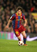 BARCELONA - MARCH 5: Leo Messi of Barcelona during the match between FC Barcelona and Real Zaragoza