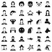 Private Icons Set. Simple Style Of 36 Private Icons For Web Isolated On White Background poster