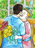 pic of saying sorry  - say it with flowers - JPG