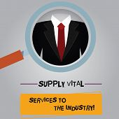 Handwriting Text Supply Vital Services To The Industry. Concept Meaning Power Supplies For Companies poster