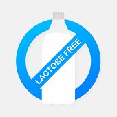 Lactose Free Icon. Vector Contains No Lactose Label For Healthy Daiy Food Product Package. Vector St poster