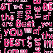 Decorative Seamless Patterns With Crossed Words best Of The Best poster