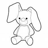 Soft Toy Icon. Outline Illustration Of Soft Toy Icon For Web Design poster