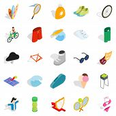 Recreation Park Icons Set. Isometric Set Of 25 Recreation Park Icons For Web Isolated On White Backg poster
