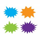 Starburst Speech Bubbles Set. Bursting Icon. Starburst Isolated Icons Set poster