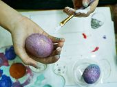 Hand, Egg, Eggs, Coloring, Easter, Spring, Paints, Young, Young, Child, Artist, Young Artist, School poster