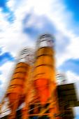 Large Concrete Plant On Sunny Days. poster