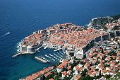 Dubrovnik, Croatia. Most popular travel destination in Adriatic sea. poster