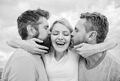 Everything You Should Know Avoid Friend Zone Start Dating. Men Kiss Same Girl In Cheeks. She Likes M poster