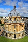 The landmark Radcliffe Camera reading room of the University's Bodleian Library in central Oxford, England poster