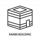 Kaaba Building Icon Isolated On White Background. Kaaba Building Icon Simple Sign. Kaaba Building Ic poster