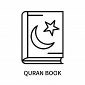 Quran Book Icon Isolated On White Background. Quran Book Icon Simple Sign. Quran Book Icon Trendy An poster