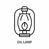 Oil Lamp Icon Isolated On White Background. Oil Lamp Icon Simple Sign. Oil Lamp Icon Trendy And Mode poster