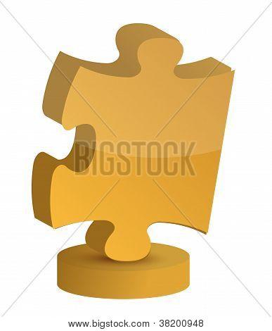 Puzzle Piece Trophy Cup