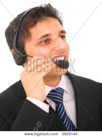 Customer Representative Talking