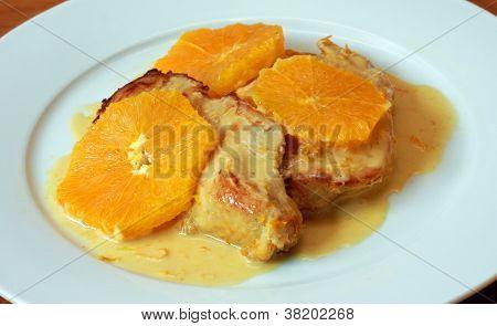 Chicken in Creamy Orange Sauce