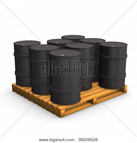 Pallet Oil Barrel