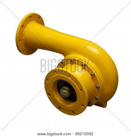 Yellow Pipe-adapter