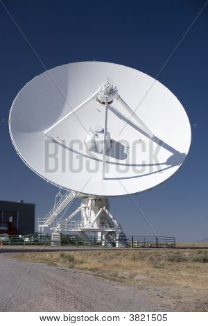 Massive Vla Radio Telescope Antenna