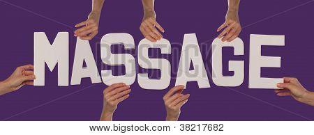 White Alphabet Lettering Spelling Massage