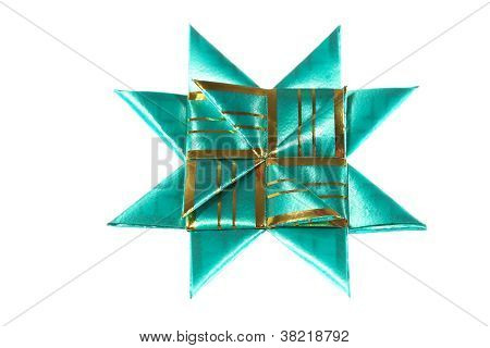 Green Origami Star