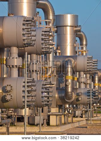 Detail Of A Modern Natural Gas Processing Plant