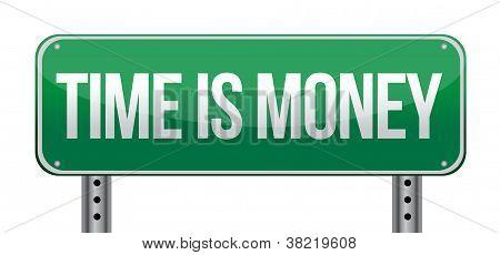 Time Is Money Sign Illustration Design