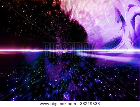 Abstract Spacial Background