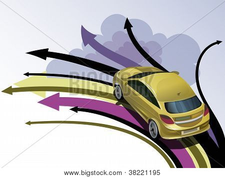 Car And Arrows