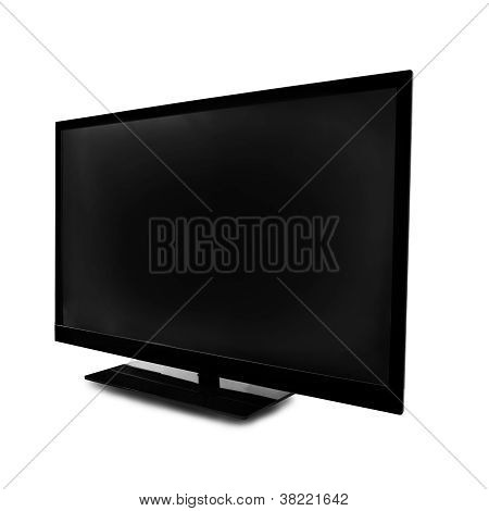 lcd screen monitor on white background