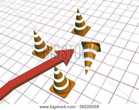 Cones And Arrow