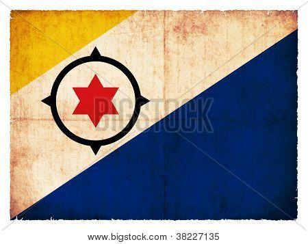 Grunge Flagge von Bonaire (Niederlande)