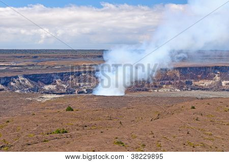 Smoke From An Active Volcanic Crater