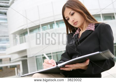 Beautiful Asian Business Woman