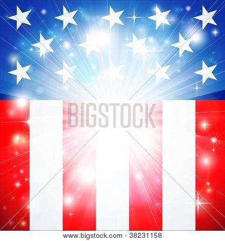 American Flag Patriotic Background