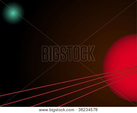 Abstract Background With Lines And Circles
