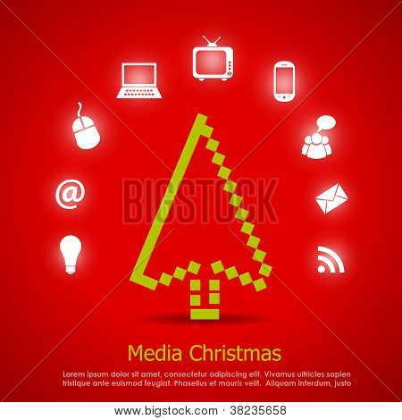 Media christmas vector card