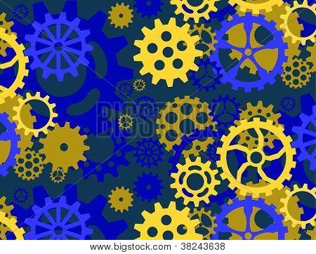 Blue Gear Pattern