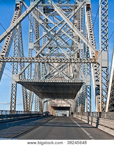 Steel Truss Bridge From Inside