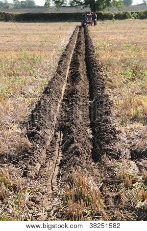 Ploughed Furrow in a Field.