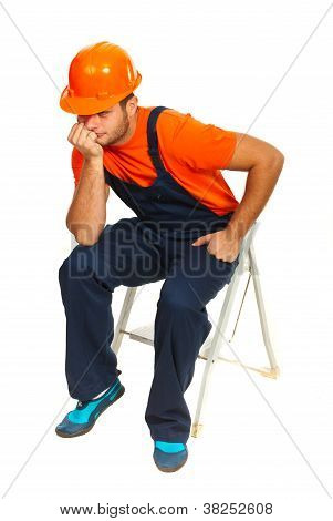Sad Constructor Worker