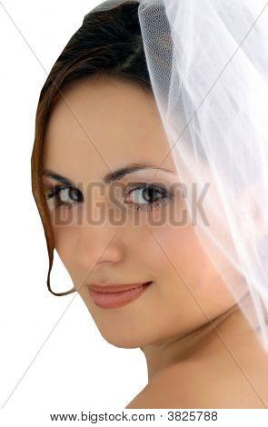Braut isoliert auf weiss