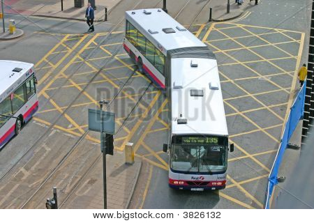 Articulated Bus In Manchester England