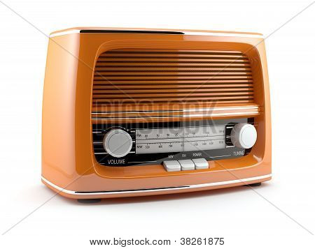 Orange Retro Radio