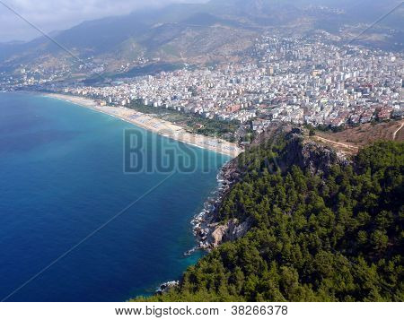 Alania Bay In Mediterranean Sea, Turkey