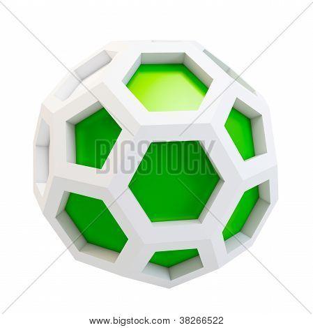 3D Icosahedron Abstract Model
