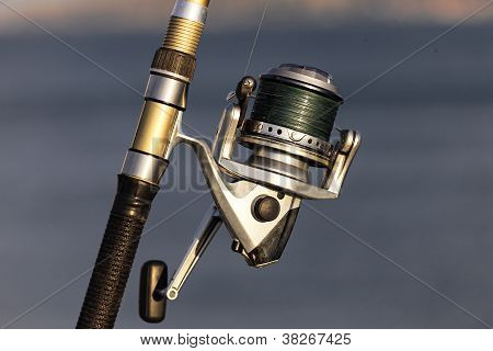 Fishing Reel With Sunlight