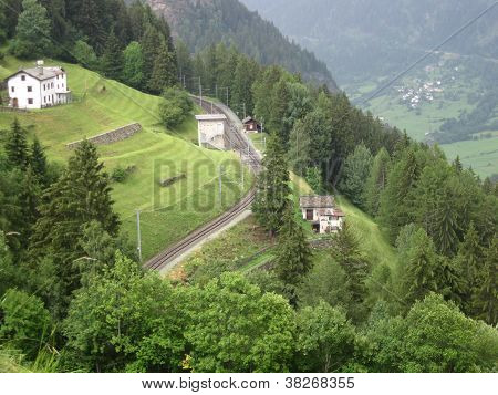 railway in mountain